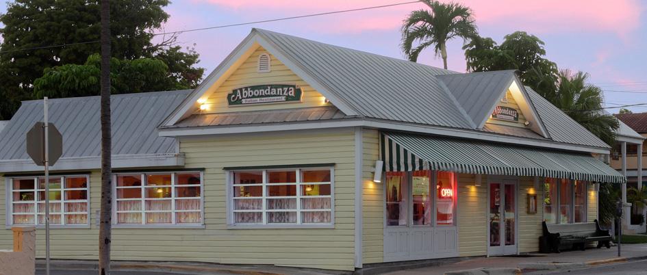 Key West Restaurants Abbondanza Italian Restaurant